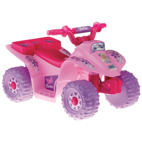 Power Wheels Pink Barbie Quad for Toddler Girls