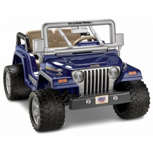 Blue Power Wheels Jeep