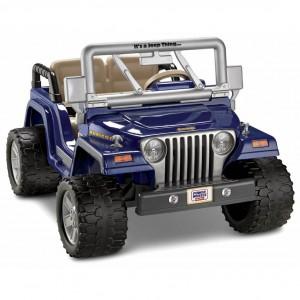 Blue Power Wheels Jeep