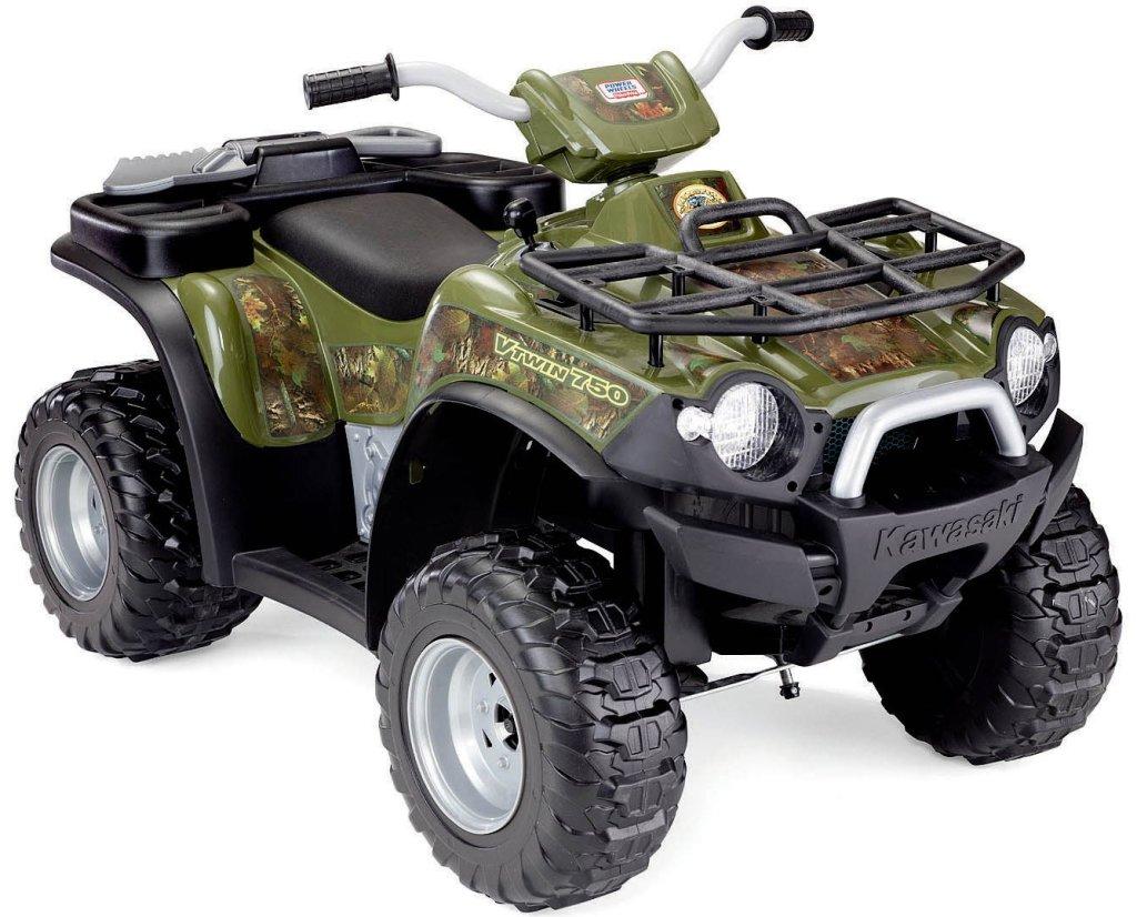 Power Wheels Kawasaki Brute Force Camouflage ATV for Boys