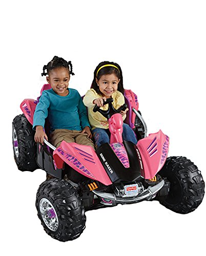 pink electric quad for two girls