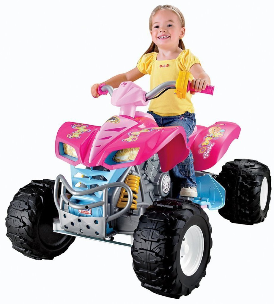 barbie pink atv for girls ages 3 and up