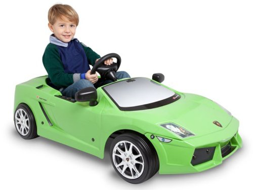 Green Lamborghini Ride-on Car for Kids