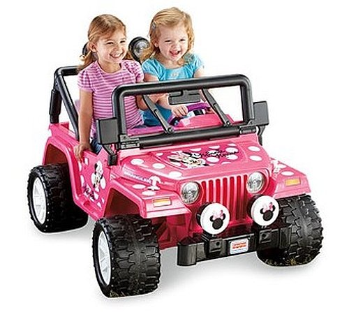 Power Wheels Girls' Disney Minnie Mouse Jeep 12-Volt Battery-Powered Ride-On
