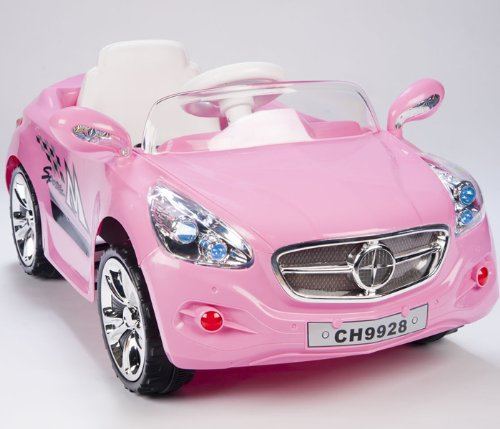 pink motorized car for toddler girls