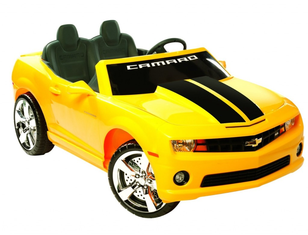 yellow Camaro car for kids