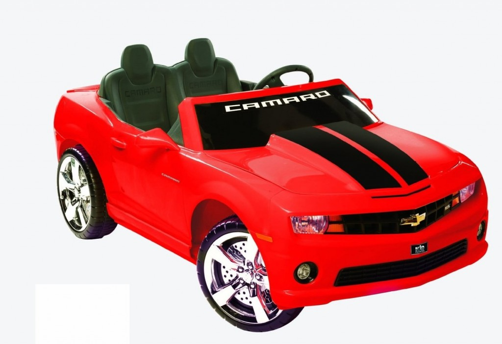 beautiful red camaro for kids to drive