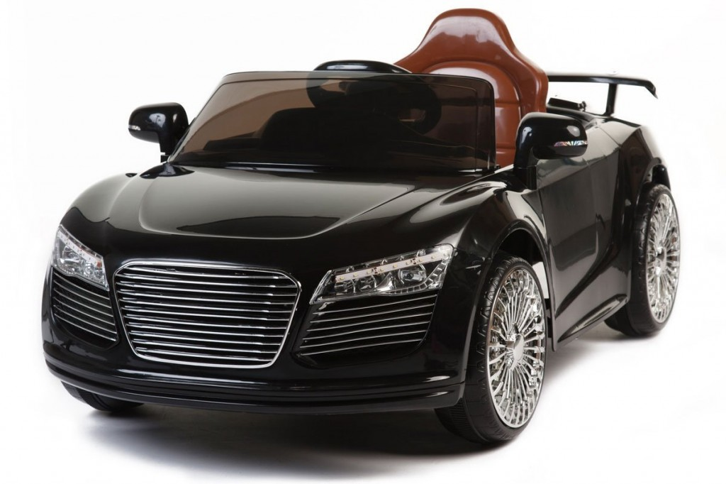 beautiful black Audi for kids to drive
