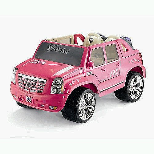 pink barbie cadillac hybrid escalade