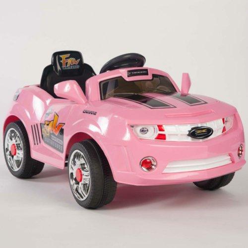 Kids Pink Camaro Style Ride On Rc Car