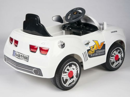 WHITE Camaro Style Car for Toddler Boys or Girls to Drive