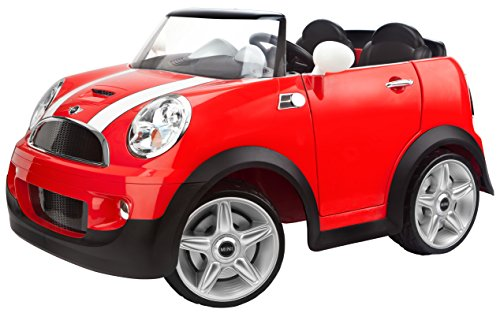 12V RED Mini Cooper Car for Kids