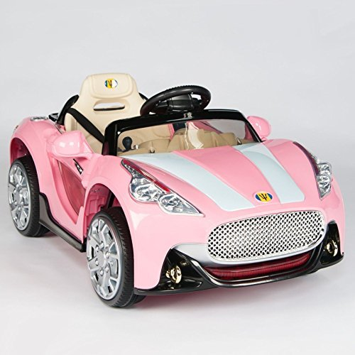 PINK MASERATI STYLE Battery Powered Car for Girls