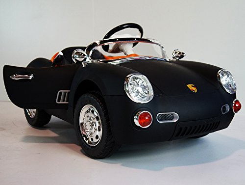 Fancy Black Porsche for Kids to Drive