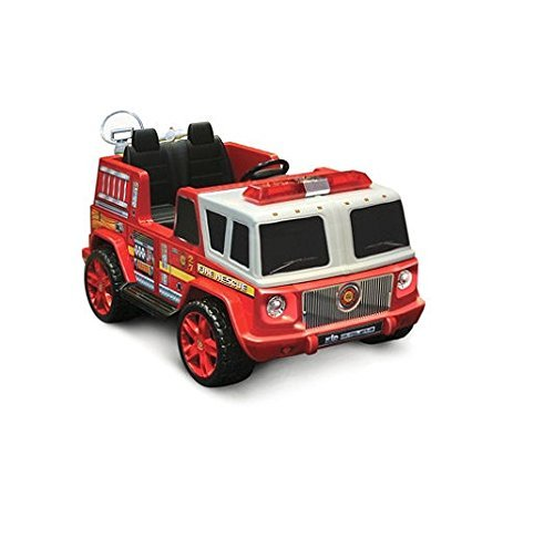 12v Fire Engine Two Seater Ride-on for Kids