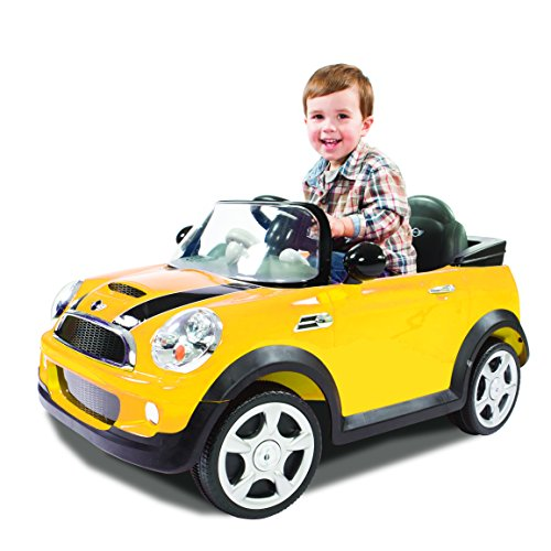 Cute Yellow Mini Cooper Toy Car for Kids