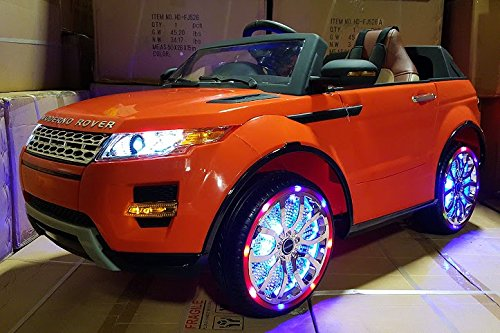 2016 orange range rover style power wheels motorized toy car for kids
