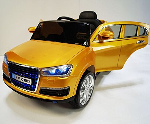 GOLD Color AUDI Q7 Style Ride On Electric Car for Kids