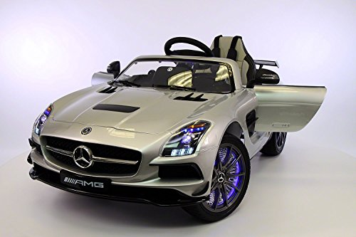 Silver Mercedes Benz SLS Kids Ride-On Car