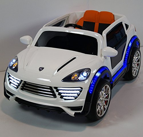 White Porsche Cayenne Car for Kids