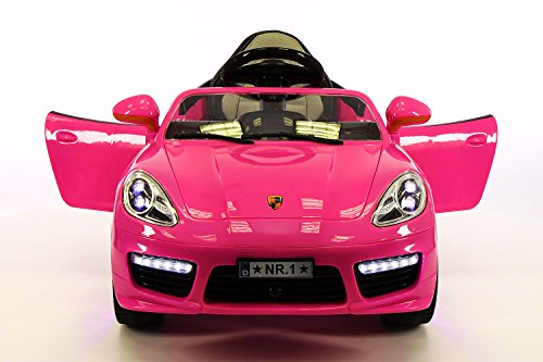 PINK Porsche Boxster Style Car For Toddler Girls