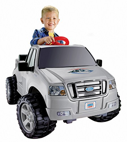 Fisher-Price Silver Power Wheels Ford Truck for toddlers