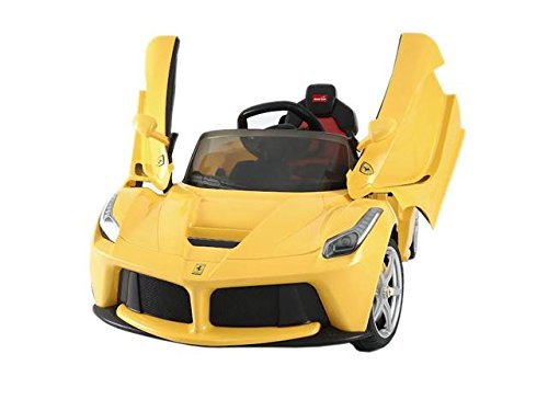 Yellow FERRARI MODEL RIDE ON TOY CAR