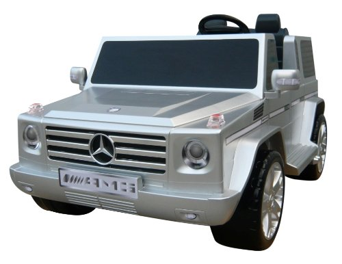 Silver Ride-on Mercedes for Kids