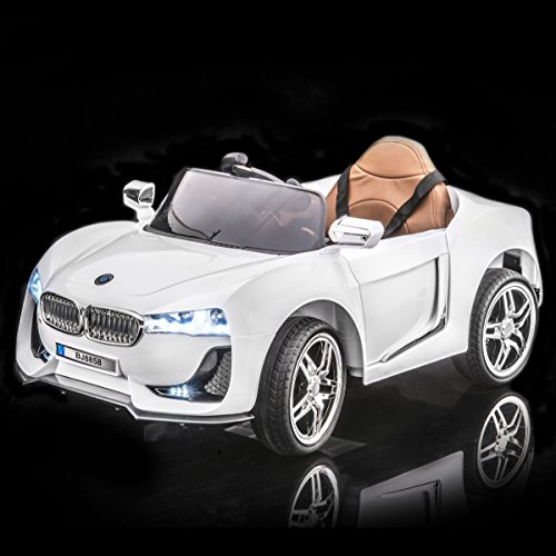 White BMW i8 Style Kid's Ride On Car, Battery Powered