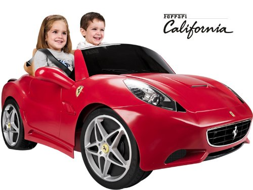 cute red ferrari california 12v battery ride on car for kids
