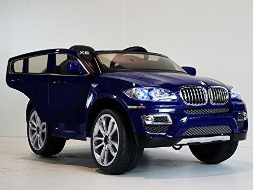 blue color bmw x 6 kids ride on