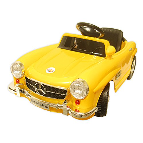Yellow Mercedes Benz for Kids